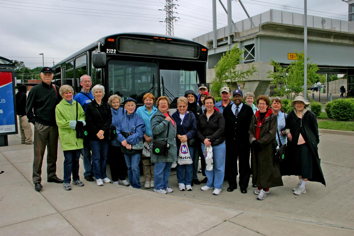 Before Boarding the Bus_South County Walk Group