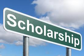 Scholarships sign